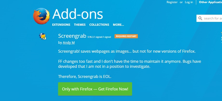 capturar pagina web completa firefox