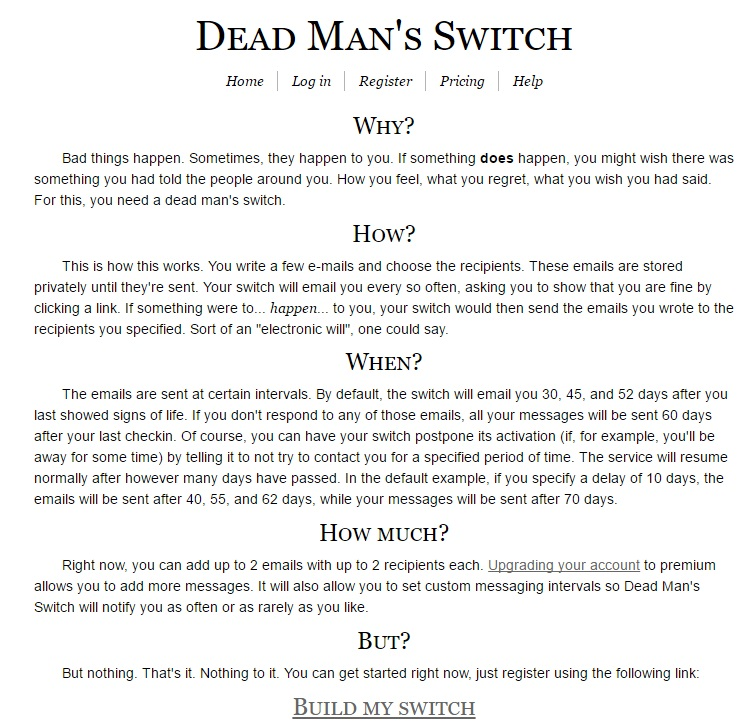 DEAD MANS SWITCH