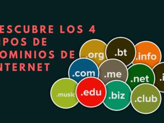 tipos de dominios de Internet