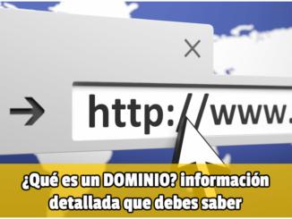 que es un dominio web